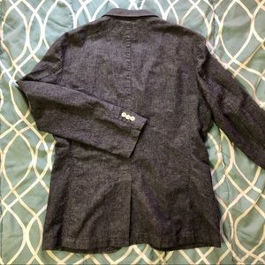 Casual blue linen blazer